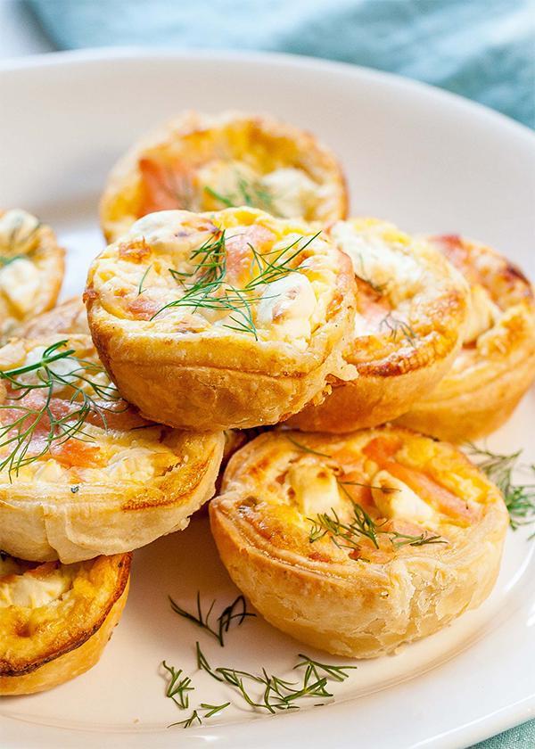 Тарталетка со сливочным сыром с копченой скумбрией, порция общепит