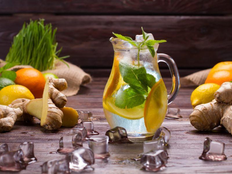 Лимонад лимонно-имбирный, 1 л общепит