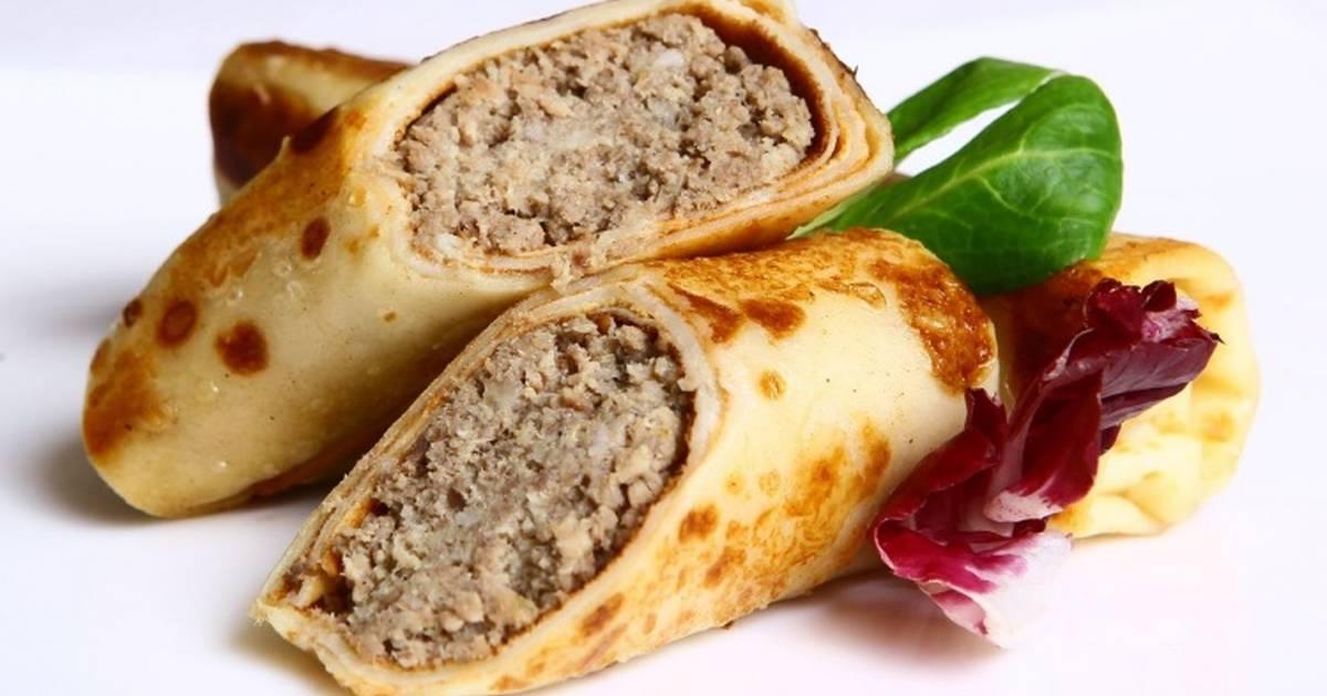 Блинчики с мясом, порция общепит
