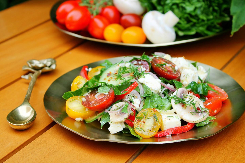 Салат овощной, порция общепит