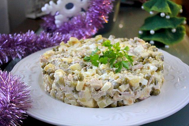 Салат Столичный классический, 1 кг полуфабрикат кулинарный