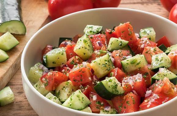 Салат из свежих овощей, порция 60 г