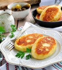 Зразы картофельные с капустой жареные, 1 шт рецептура кулинарии