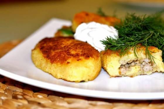 Зразы картофельные с мясом замороженные, полуфабрикат общепит