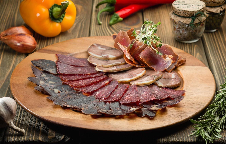 Мясная тарелка гастрономическая (говядина с/в, оленина с/к, салями Милано)