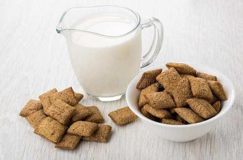 Зерновые подушечки с молоком