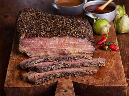 Beef brisket (Грудинка Брискет) с бататом