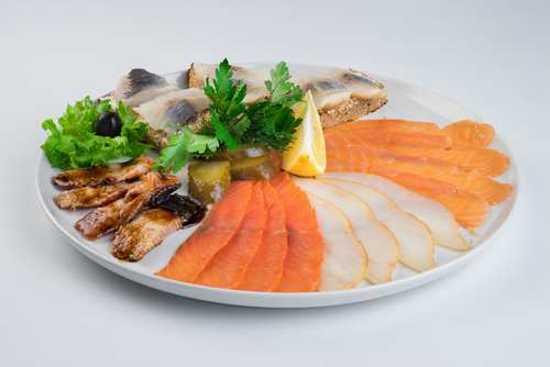 Рыбная тарелка (масляная рыба хк, горбуша сс, сом провесной)