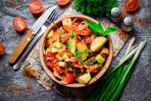 Рецептура блюда Рагу овощное (1-й вариант)
