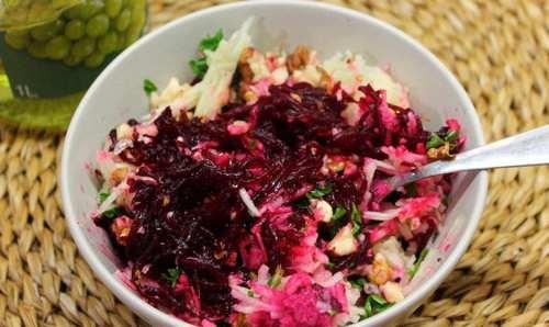 Рецептура блюда Салат из маринованной свеклы с хреном