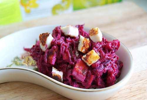 Рецептура блюда Салат из свеклы с сыром и чесноком