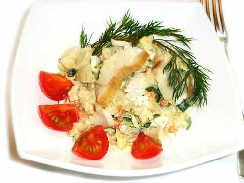 Рецептура блюда Салат рыбный