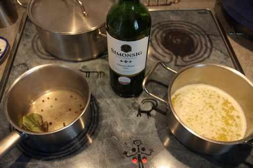 Рецептура блюда Соус - белое вино