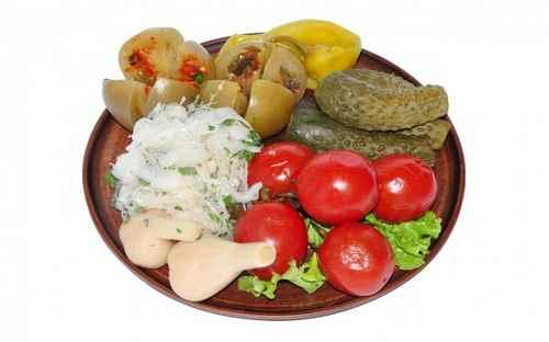 Кавказские соления к шашлыку (из покупного)