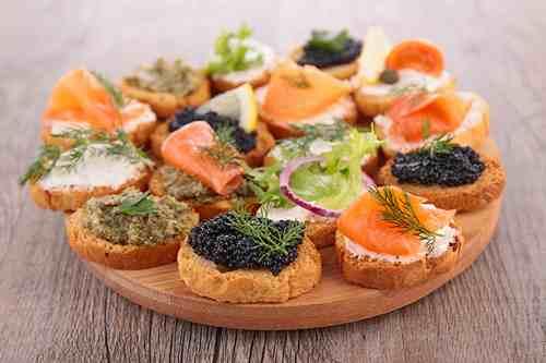Рецептура блюда Ассорти рыбное на хлебе
