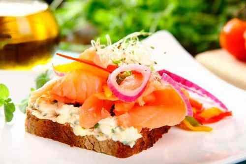 Рецептура блюда Бутерброды с отварной рыбой