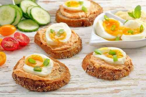 Рецептура блюда Бутерброды с паштетом и яйцом