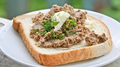 Рецептура блюда Бутерброды с паштетом