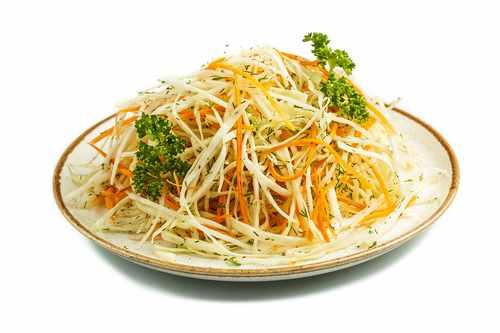 Рецептура блюда Салат из белокочанной капусты