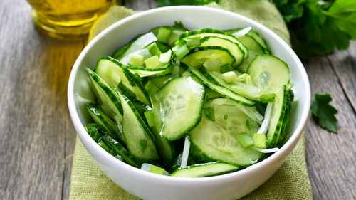 Рецептура блюда Салат из свежих огурцов