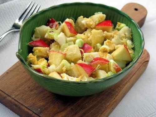 Рецептура блюда Салат картофельный с яблоками