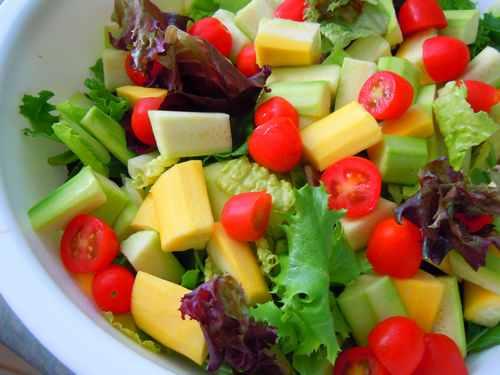 Рецептура блюда Салат из сырых овощей