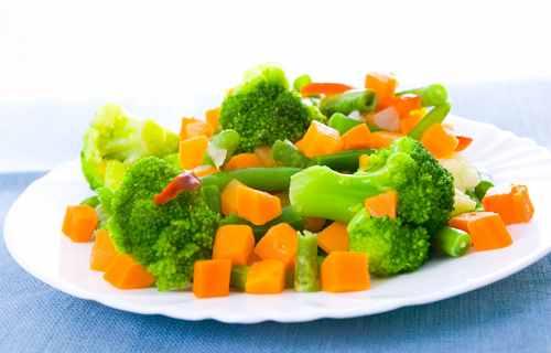 Рецептура блюда Овощи отварные с жиром