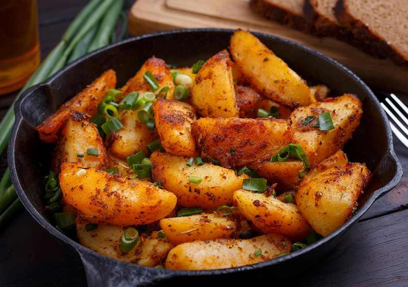 Рецептура блюда Картофель жареный (из сырого)