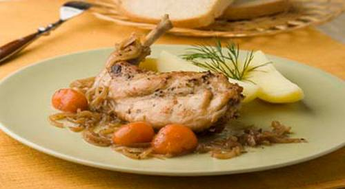 Рецептура блюда Птица, дичь или кролик отварные с гарниром
