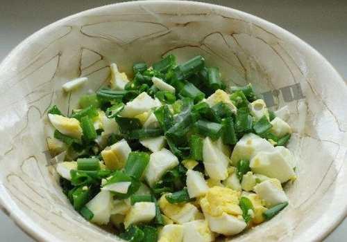 Рецептура блюда Рубленые яйца с маслом и луком