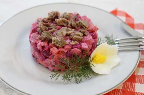 Рецептура блюда Винегрет мясной