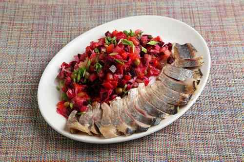 Рецептура блюда Винегрет рыбный