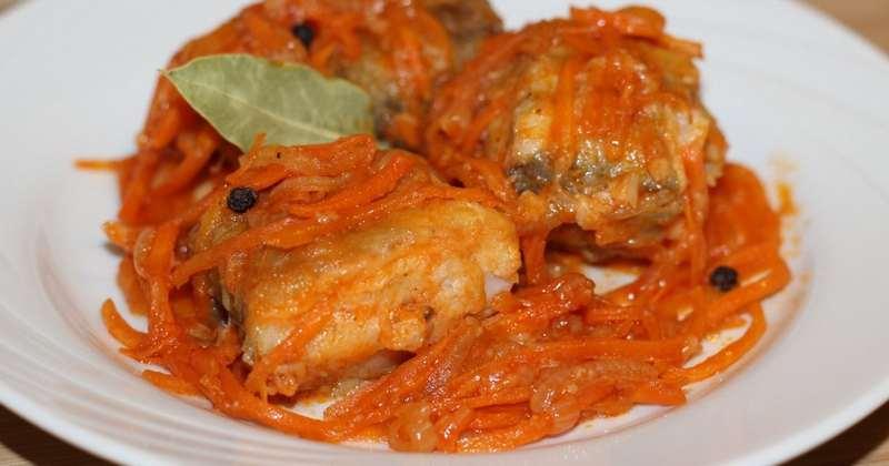 Рецептура блюда Жареная рыба под маринадом
