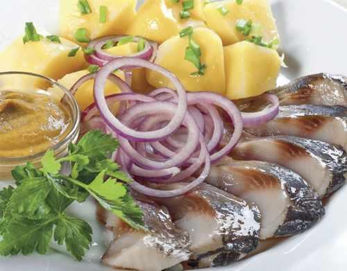Рецептура блюда Сельдь с картофелем и маслом