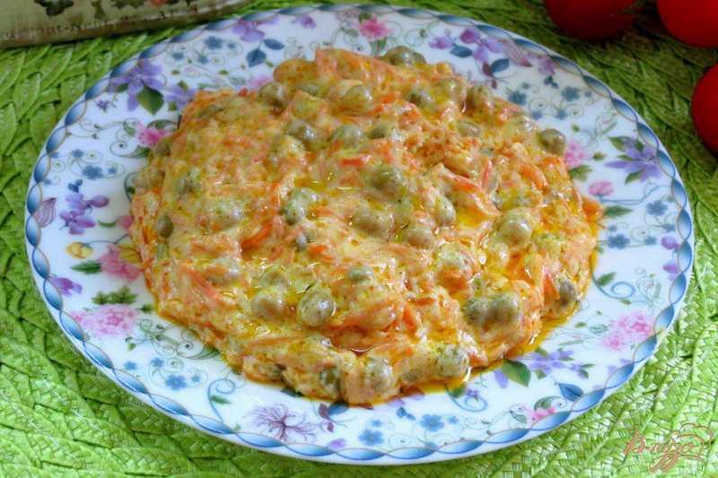 Рецептура блюда Морковь с зеленым горошком в молочном соусе