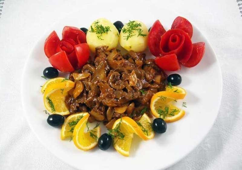 Рецептура блюда Почки жареные с помидорами или лимонным соком