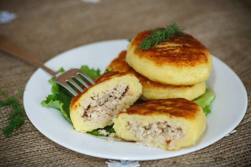 Рецептура блюда Зразы картофельные с фаршем из пасты «Океан»