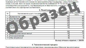 ТЕХНИКО-ТЕХНОЛОГИЧЕСКАЯ КАРТА № Салат Баронесса
